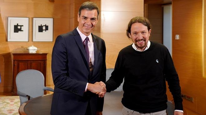 El presidente del Gobierno en funciones, Pedro Sánchez, ha mostrado este martes al líder de Unidas Podemos la voluntad de iniciar conversaciones para conformar un gobierno de cooperación, un punto de partida con el que se ha mostrado satisfecho Pablo Iglesias, que insiste en que Podemos entre.