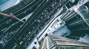Imagen aérea de una ciudad.