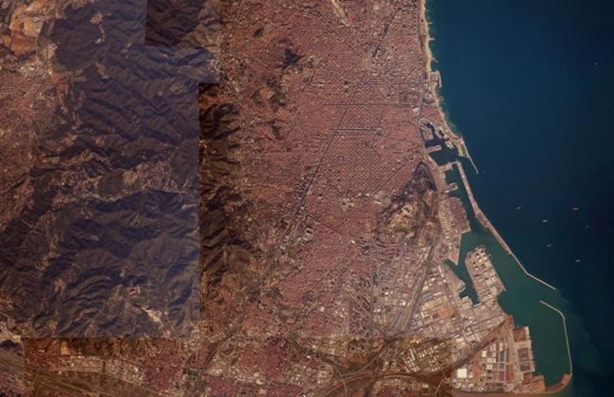 Barcelona vista desde el espacio