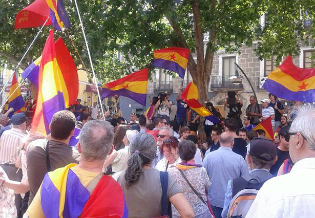 Imatge de la manifestació republicana daquest dijous a Madrid.