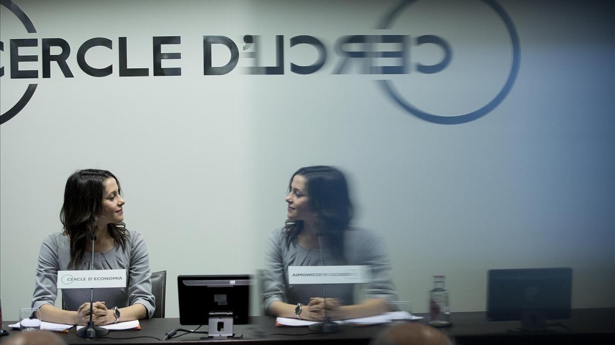 Inés Arrimadas, en el Cercle dEconomia.