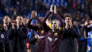 Así ha celebrado el Barça la Liga en Riazor