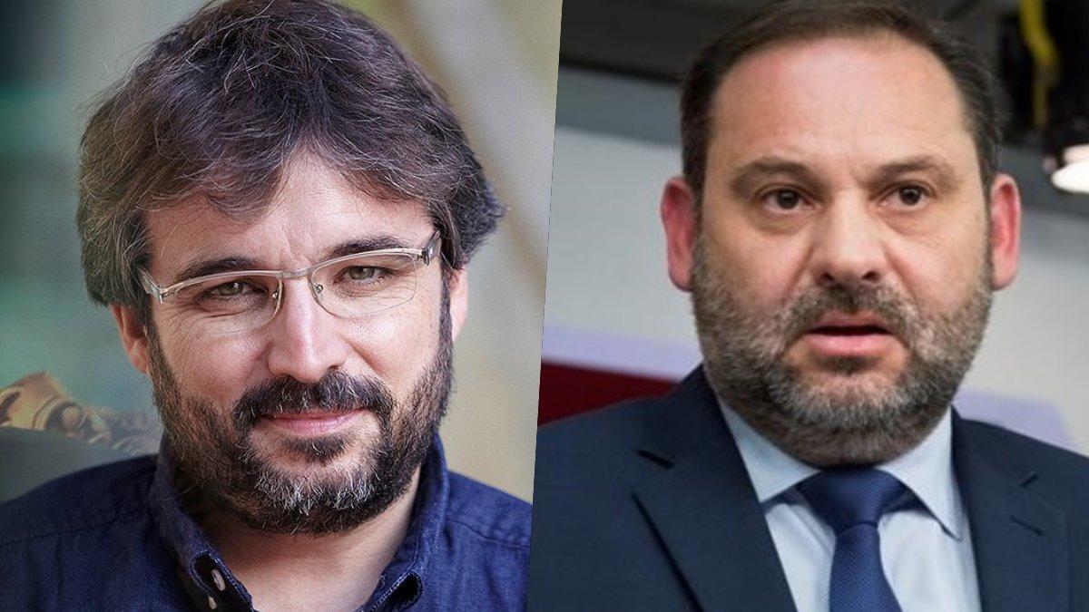 Jordi Évole y José Luis Abalós, ministro de Fomento.