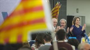 Jorge Fernández Díaz, al término del mitin central del PP catalán, en Barcelona.