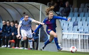 Lieke Martens, en una acción durante un partido de Liga ante la Real.