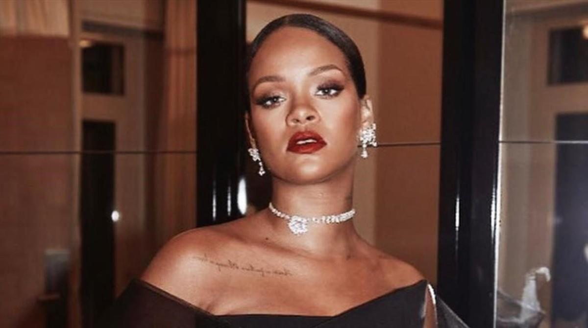 Rihanna, en la presentación de su colección de joyas para Chopard, este jueves en Cannes.