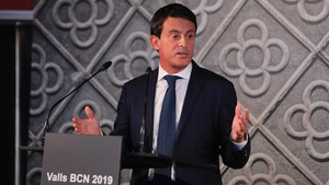 Manuel Valls, en la presentación de su candidatura para la alcaldía de Barcelona