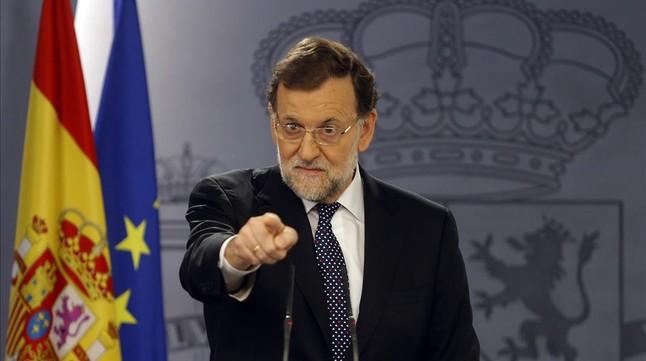 Mariano Rajoy, en una comparecencia de urgencia ante los medios, en una foto de archivo.