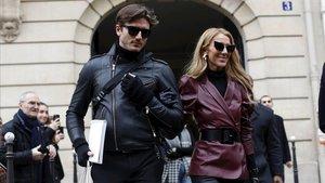 Celine Dion y Pepe Muñoz, el pasado 24 de enero en la sede de Givenchy en París, durante la semana de la alta costura.