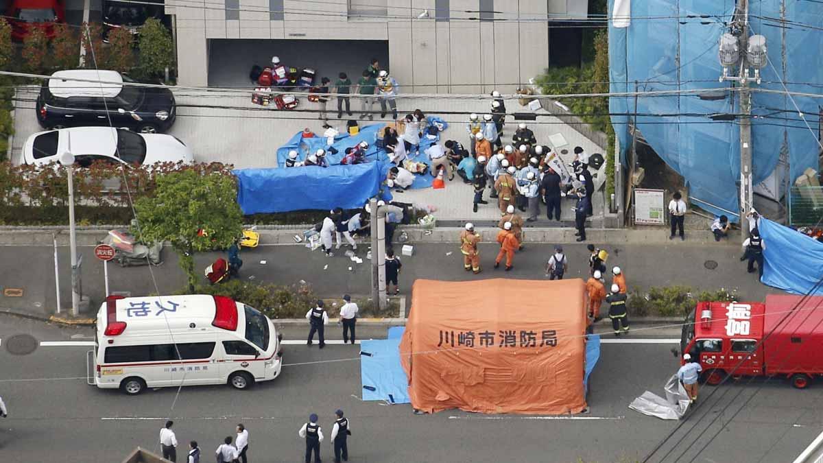 Al menos tres muertos y 15 heridos en un ataque en un parque de Japón.