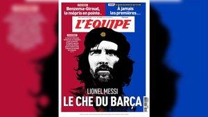 La portada de este martes del diario 'L'Équipe'.