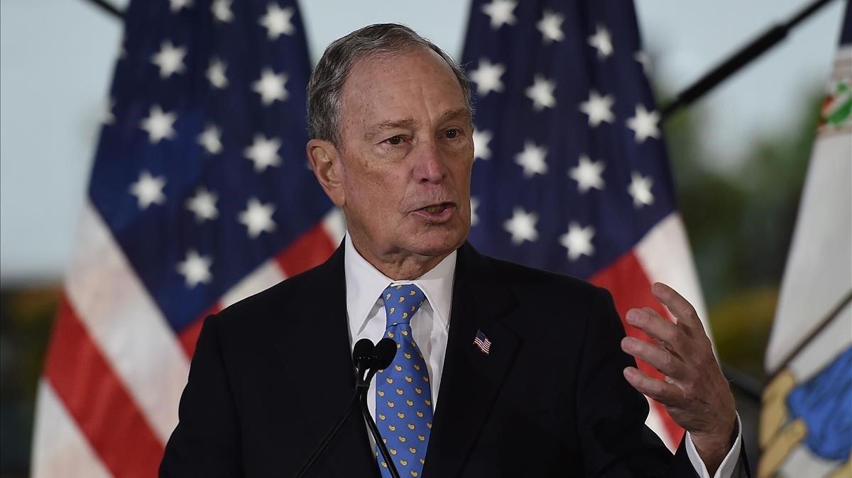 Michael Bloomberg en un acto electoral enVirginia.