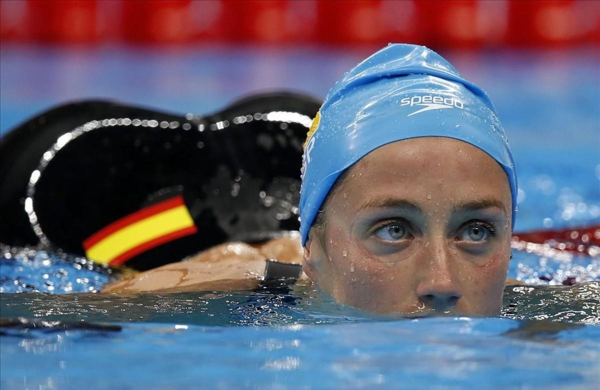 Mireia Belmonte, en una imagen de los Juegos de Río