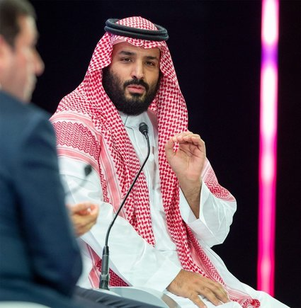 In this photo released by Saudi Press Agency SPA Saudi Crown Prince Mohammed bin Salman addresses the Future Investment Initiative conference in Riyadh Saudi Arabia Wednesday Oct 24 2018 The Crown Prince addressed the summit on Wednesday his first such comments since the killing earlier this month of Washington Post columnist Jamal Khashoggi at the Saudi Consulate in Istanbul Saudi Press Agency via AP