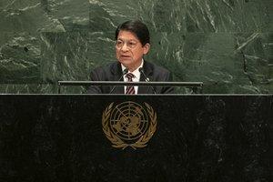 Denis Ronaldo Moncada, ministro de Relaciones Exteriores de Nicaragua.