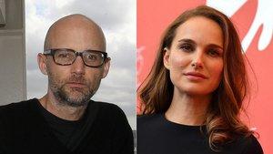El músico Moby y la actriz Natalie Portman.