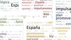 Las palabras más usadas en los programas de los partidos