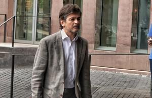 Oriol Pujol llega a la Ciutat de la Justícia de Barcelona.