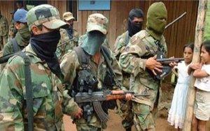 Un grupo de paramilitares colombianos.