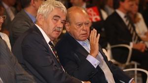 Pasqual Maragall y Jordi Pujol, en una imagen del 2009.