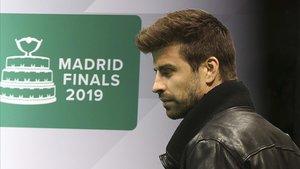 Piqué, en Madrid, en la presentación de la Copa Davis.