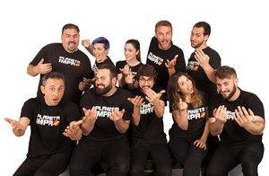 El divertido equipo de cómicos de Impro Show.