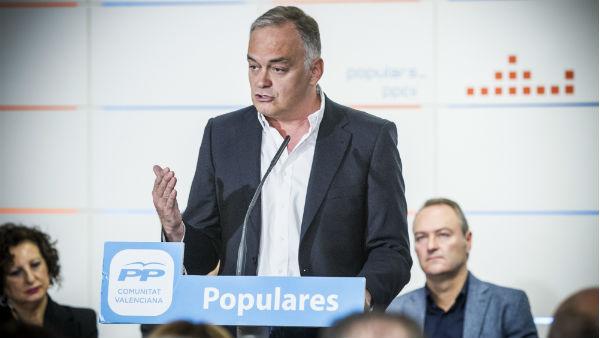 Esteban González Pons durante el acto celebrado en Valencia