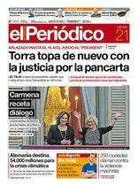 La portada de EL PERIÓDICO del 21 de septiembre del 2019.