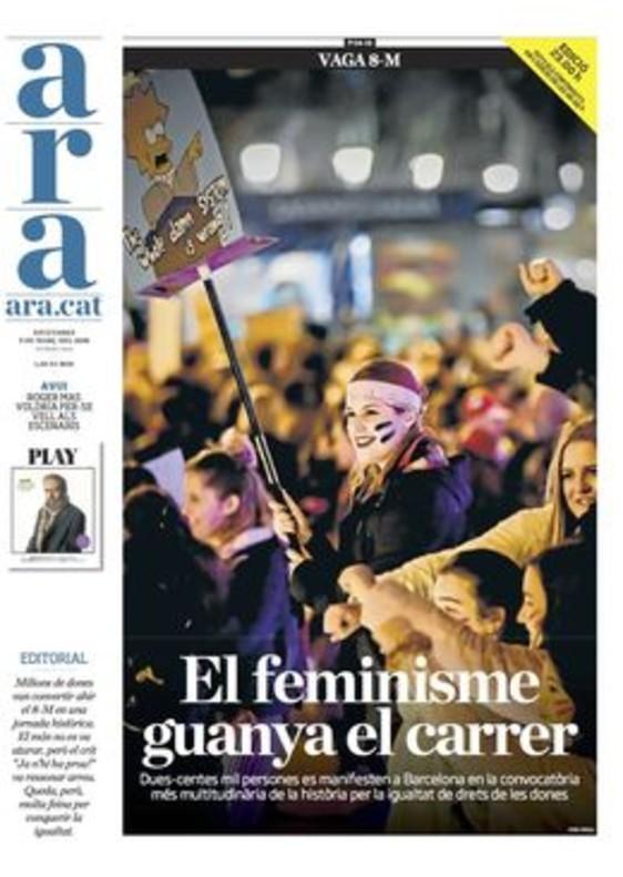 La marea feminista inunda el quiosco