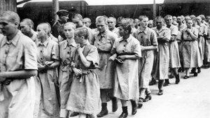 Presas usadas como trabajadoras esclavas en Auschwitz para la empresa I.G. Farben.