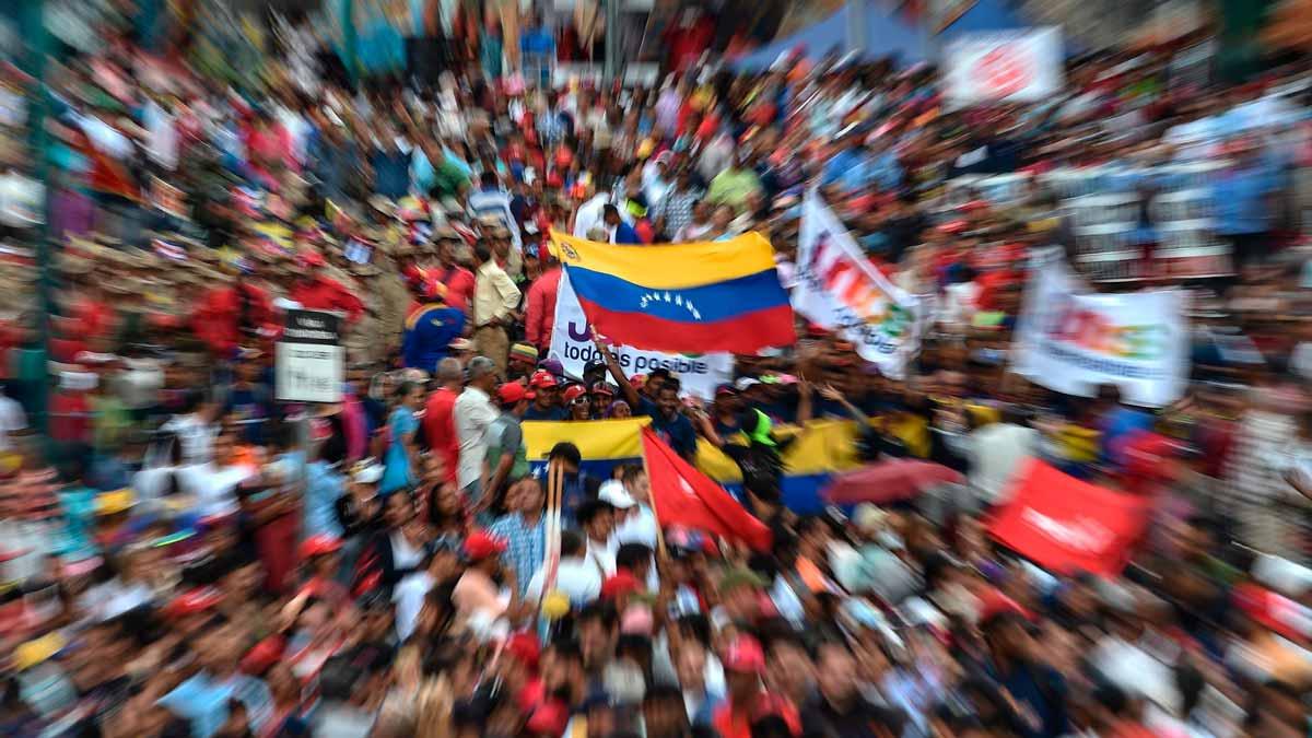 Protestas contra Maduro en Venezuela.