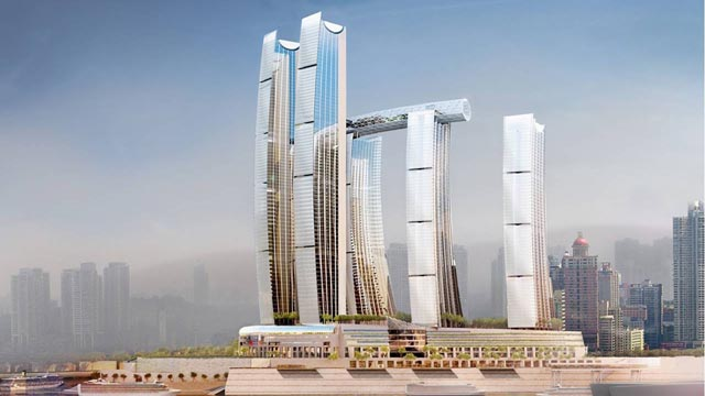 El Raffles City Chongqing, el primer rascacielos horizontal.