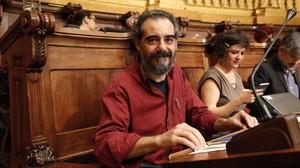 Raimundo Viejo, concejal del Ayuntamiento de Barcelona, cuando era concejal.