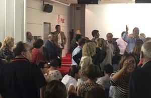 Reunión del Comité Federal del PSOE para debatir la propuesta del secretario general, Pedro Sánchez.