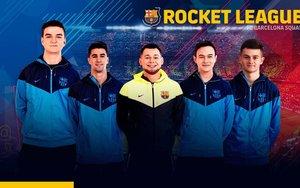 El equipo de Rocket League del Barcelona.