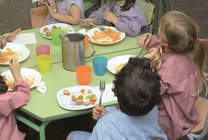 Un menjador escolar.