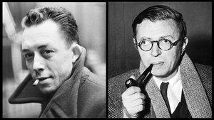 Camus (izquierda) y Sartre.