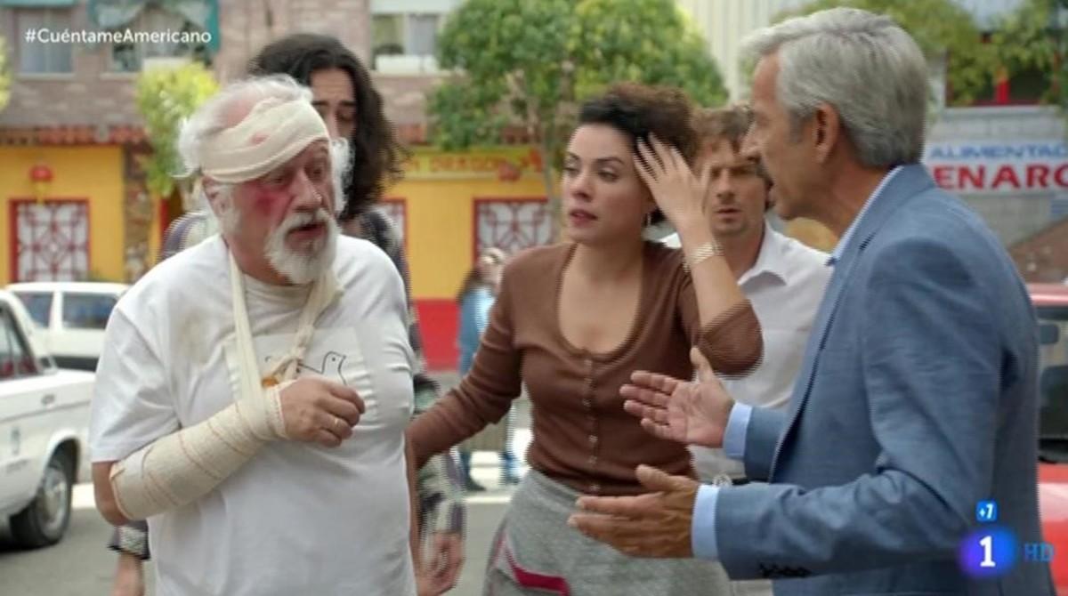 Juan Echanove e Imanol Arias, en una escena de la serie de TVE-1 'Cuéntame...'.