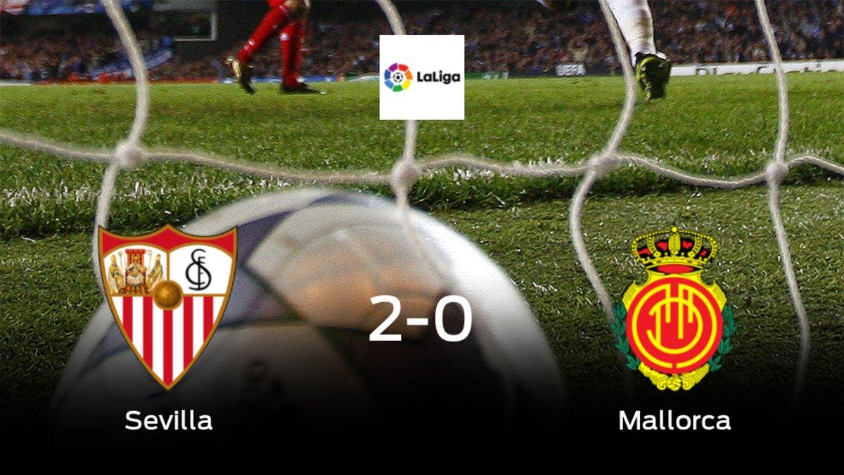 El Sevilla suma tres puntos a su casillero tras ganar al Mallorca (2-0)