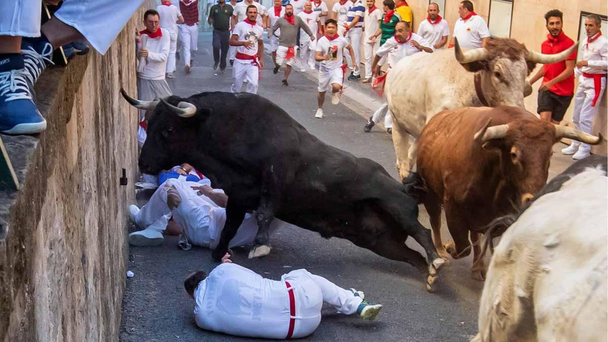 Sexto encierro de San Fermín 2019.