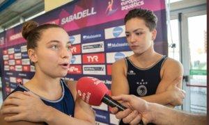 Silvia Morell y Ruth Ariño, dos de los fichajes del Sabadell esta temporada procedentes de CN Sant Andreu