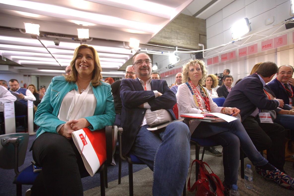 Susana Díaz (izquierda), durante la reunión del Comité Federal del PSOE.