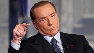 Silvio Berlusconi, durante su intervención en el programa de televisión Porta a porta.