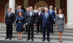 El último gobierno que tuvo Mariano Rajoy antes de sufrir una moción de censura