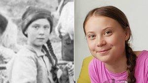 Una foto del archivo de la Universidad de Washington muestra a una chica con un asombroso parecido a la activista sueca Greta Thunberg.