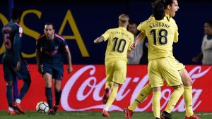 Ünal celebra el gol del triunfo ante el Altético.