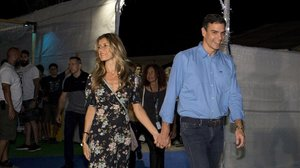 Pedro Sáncyez y su mujer, Begoña Gómez, el pasado 20 de julio en el Festival Internacional de Benicàssim (FIB).