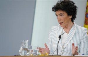 La portavoz del Gobierno, Isabel Celaá, este martes tras el Consejo de Ministros.