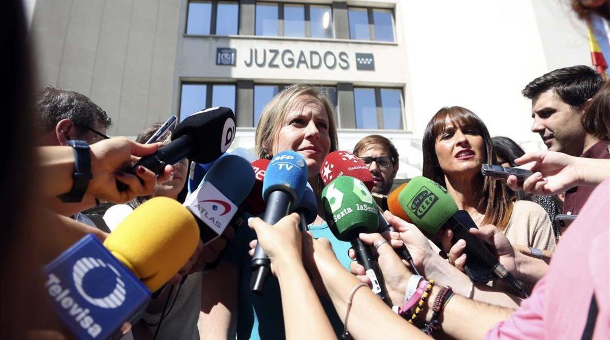 Polonia Castellanos, presidenta de la asociación Abogados Cristianos y portavoz de la familia de María Teresa Blanco.