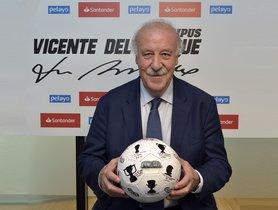 Vicente del Bosque, en el acto promocional.